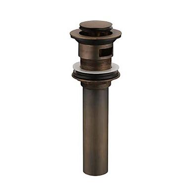 Vandhaner tilbehør - Overlegen kvalitet - Vintage Messing Pop-up vanddræn uden overstrømning - Afslut - Antik Bronze