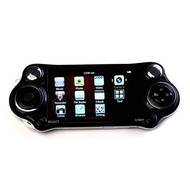 4,3 tums 100 spel mp4-spelare med digital kamera (4GB, vit / svart)