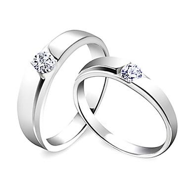 prata esterlina 925 incrível seu e anéis dela (conjunto de 2)