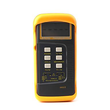 Microprocessor Digital Thermometer Two K-Type,Orange