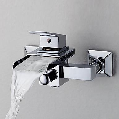 ก๊อกอ่างอาบน้ำ - ร่วมสมัย มีสี Ceramic Valve Bath Shower Mixer Taps / Brass