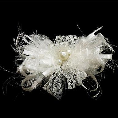 prachtige satijn met imitatie parel huwelijk bruids hoofddeksel