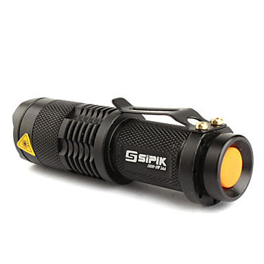 abordables Lampes & Lanternes de Camping-SK68 Lampes Torches LED LED Cree® XR-E Q5 1 Émetteurs 200 lm 1 Mode d'Eclairage Tactique Fonction Zoom Faisceau Ajustable Camping / Randonnée / Spéléologie Usage quotidien