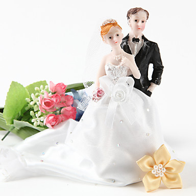 Decoración de Pasteles No personalizado Pareja Clásica Resina Despedida de Soltera / Matrimonio Diamantes Sintéticos Blanco / NegroTema