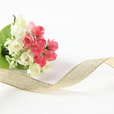 Tek Renk Metalik Düğün Kurdela Adet / Set Metalik Kurdele Süs Kurdele Tutucu Süs Hediye Kutusu