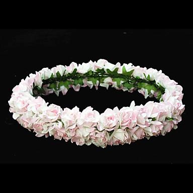 Lovely Pink papir blomst bryllup blomst pige krans / medaljon