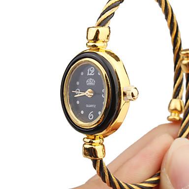 Dámské Módní hodinky Náramkové hodinky Křemenný Kov Kapela Skládaný Černá Zlatá