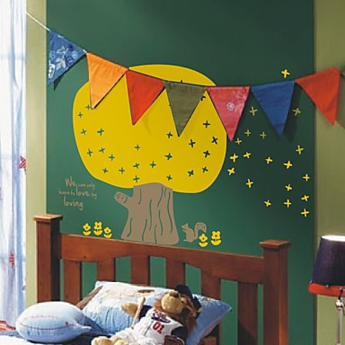 어린이 동화 나무 벽 스티커 (1985-p20)