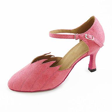 Samt oberen Tanzschuhe Ballsaal Latin / moderne Schuhe für Frauen mehr Farben