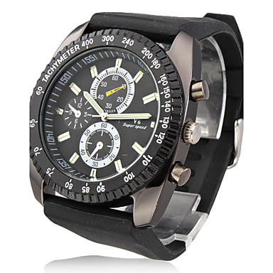 V6 Bărbați Ceas Militar Ceas de Mână Quartz Quartz Japonez Silicon Bandă Negru