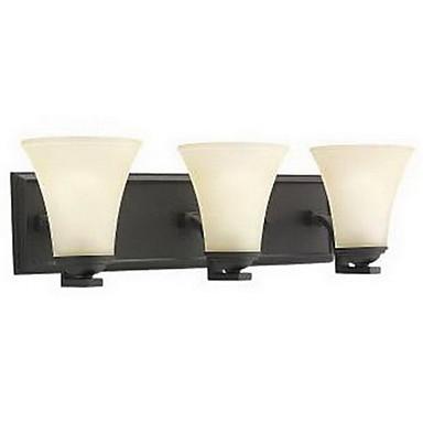 elegant vegg lys med 3 lamper i varm hvit skygge