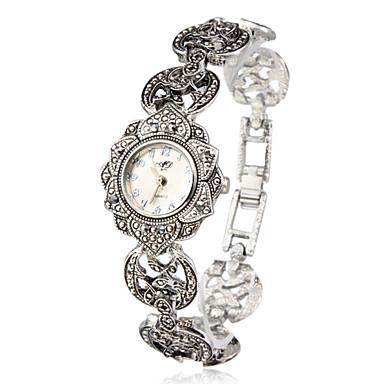Dame Quartz Armbåndsur Japansk Afslappet Ur Legering Bånd Blomst / Elegant / Mode Sølv