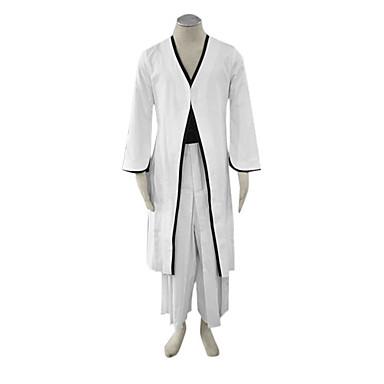 Inspirovaný Cosplay cosplay Anime Cosplay kostýmy Cosplay šaty Kimono Patchwork Dlouhý rukáv Kabát Pásek Hakama kalhoty Pro Pánské