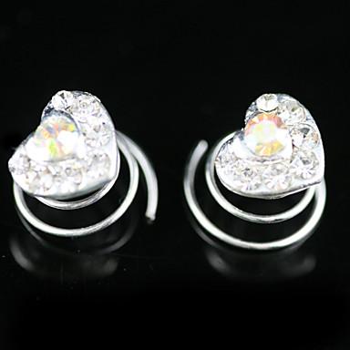 2 Stück wunderschöne Strass Braut Pins Abend Oberteile