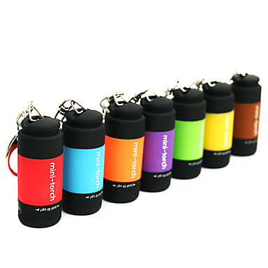 Key Chain Flashlights LED 25lm 1 Mode Mini / Waterproof Everyday Use Red / Green / Blue