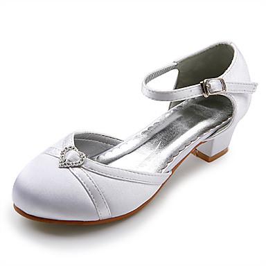 topp kvalitet sateng øvre lav hæl lukket-tær blomst jenter sko / Bryllup shoes.more farger er tilgjengelig