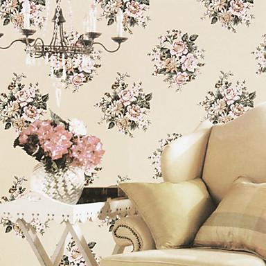 Venus classico stile country grandi fiori carta da parati for Carta da parati fiori grandi