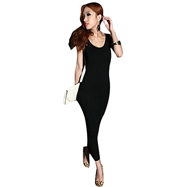 Scoop Neck Sheath/Column Backless Ankle-length Maxi Dress (More Colors)