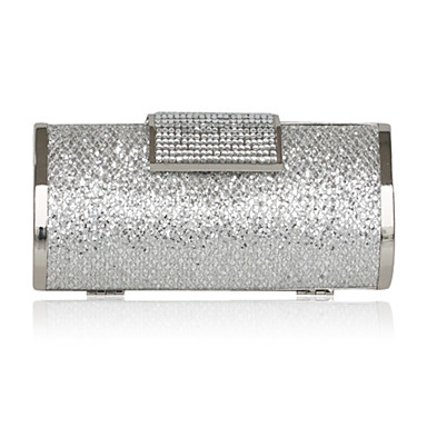 Women Satin Event/Party Evening Bag Silver