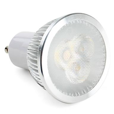 3W 270 lm GU10 Spot LED MR16 3 diodes électroluminescentes LED Haute Puissance Intensité Réglable Blanc Naturel AC 220-240V AC 85-265V