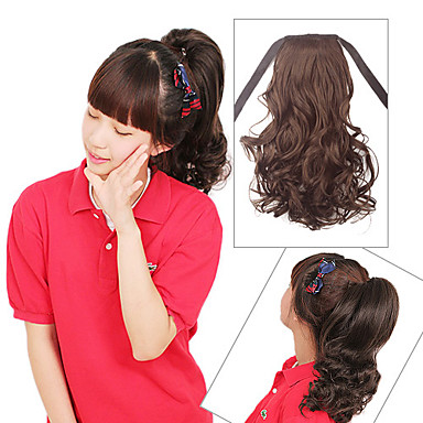 13 Inch Laceup Synthetic Curly Ponytail 2 Colors Available