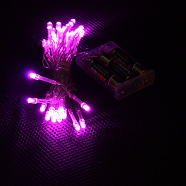3M Koristevalot 30 LEDit Dip Led Vaaleanpunainen Party / Koristeltu / Loma AA-paristot virittyvät 1kpl / IP44