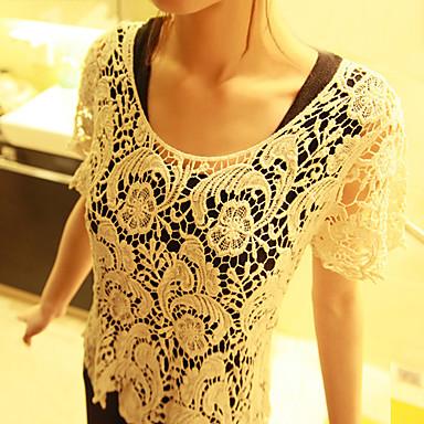 Floral Handiwork Lace T-shirt