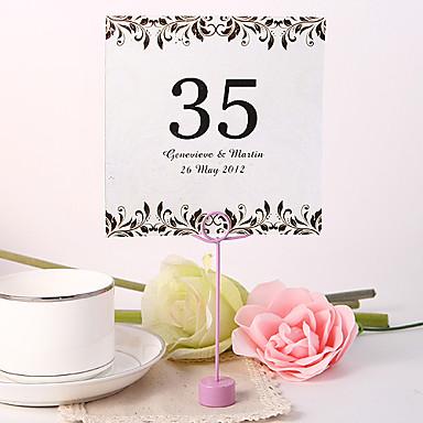 paikka kortit ja haltijoille henkilökohtaisen neliön pöytä numero kortti - taiteellinen lehti (set fo 10)