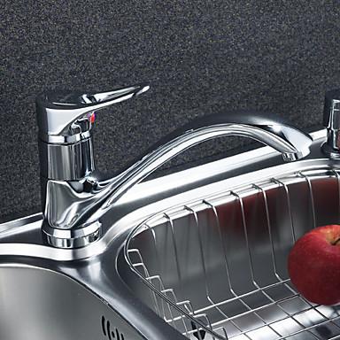 moderne solid messing kjøkkenarmatur (krom)