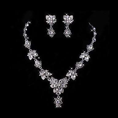 Set bijuterii Pentru femei Aniversare / Nuntă / Logodnă / Zi de Naștere / Cadou / Petrecere / Zilnic Set Bijuterii Aliaj ȘtrasColiere /