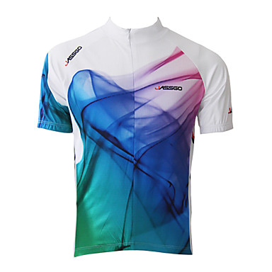 Jaggad Cycling Jersey Men's Short Sleeve Bike Jersey Tops Quick Dry Breathable Polyester 100% Polyester Stripe Spring Summer Cycling/Bike
