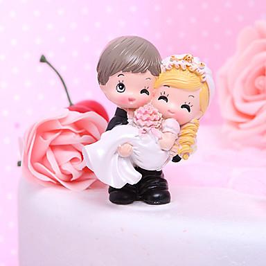 Pasta Üstü Figürler Bahçe Teması / Klasik Tema Klasik Çift / Mutlu & Gönülsüz Reçine Düğün / Çeyiz Görme ile Hediye Kutusu