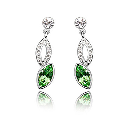 925 Sterling Silver Square Cut Rhinestone Earrings (More Colors)