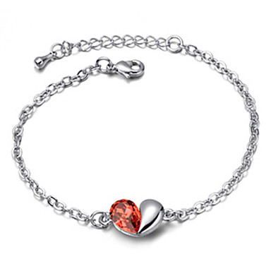Heart Cut Crystal High Quality Alloy Bracelets (More Colors)