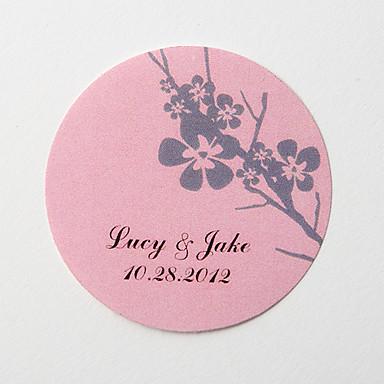 kişiselleştirilmiş güzel düğün partisi davetiyesi-zarf çıkartması