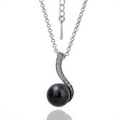 18K Gorgeous Fashion Rhinestone Alloy Small Pearl Necklace (More Colors)