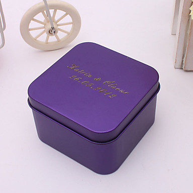 Creative Cuboid Metal Favor Holder with Pattern Favor Boxes Favor Tins and Pails - 24