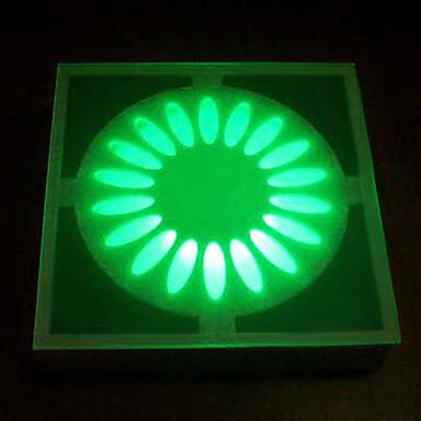 15 - dirigées par les lumières en verre artistique souterrains solaire de conception florale alimenté