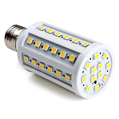 E27 60-SMD 5050 10W 800LM 2800-3300K varm hvid LED majs pære (220-240V)
