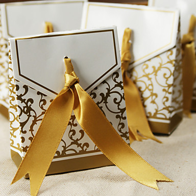 Creative Card Paper Favor Holder 53 Ribbons Favor Boxes-12