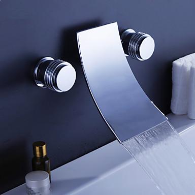 Slavina za kadu - Suvremena Chrome Zidne slavine Keramičke ventila
