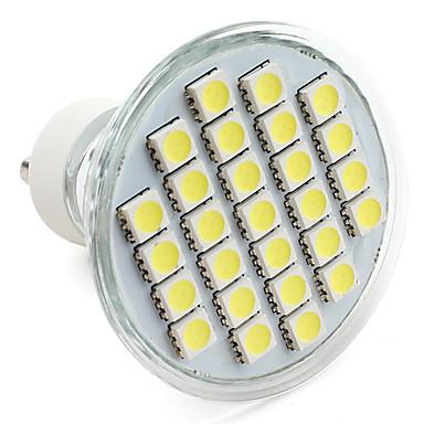 250-300lm GU10 LED-kohdevalaisimet MR16 27 LED-helmet SMD 5050 Neutraali valkoinen 220-240V