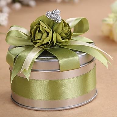abordables Support de Cadeaux pour Invités-Cylindre Métal Titulaire de Faveur Avec Rubans Boîtes à cadeaux Cannette de cadeau-6