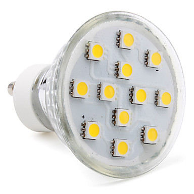 3W 80-100 lm GU10 LED Spot Işıkları MR16 12 led SMD 5050 Sıcak Beyaz AC 220-240V