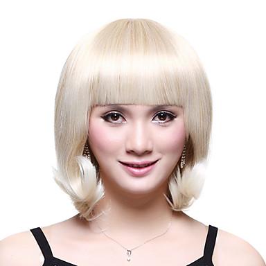 Sentetik Peruklar Klasik Sentetik Saç Peruk Kadın's