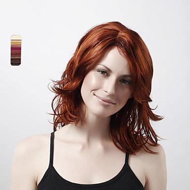 Συνθετικές Περούκες Σγουρά Κούρεμα με φιλάρισμα Συνθετικά μαλλιά 18 inch Αισθητήρας Καφέ Περούκα Γυναικεία Κοντό Πλήρης Δαντέλα / Χωρίς κάλυμμα #25 #114 #131