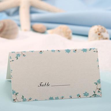 Tischkarte - blauer Blumendruck (Satz von 12) Hochzeitsempfang schön