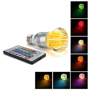 e27 3w lumière rgb led en forme de champignon boule de cristal ampoule (85-265v)