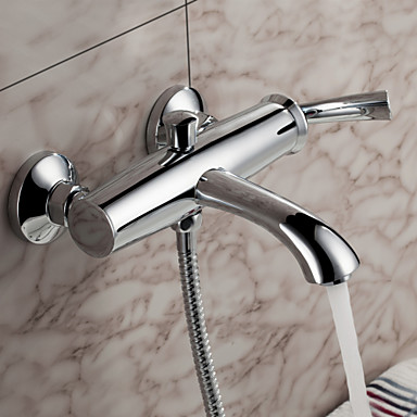 Sprinkle® by Lightinthebox - Contemporary Wall Mount Solid Brass Tub Faucet Chrome Finish