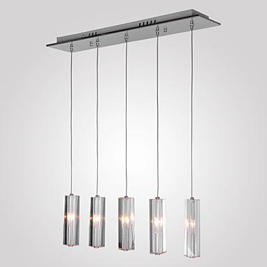 Luzes Pingente Luz Descendente - Cristal, Ilha Moderno / Contemporâneo, 110V 110-120V 220-240V Lâmpada Não Incluída